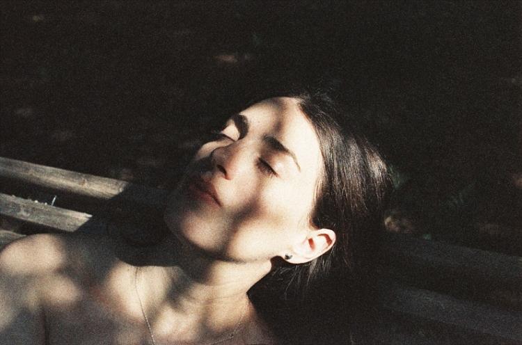 Jeanne Madic Albert Khan-sunbath-by Thomas Lucas